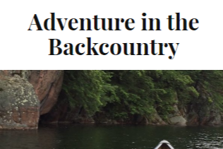 Adventure In The Backcountry Logo